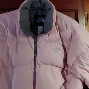 Pale pink The North Face puffer jacket
